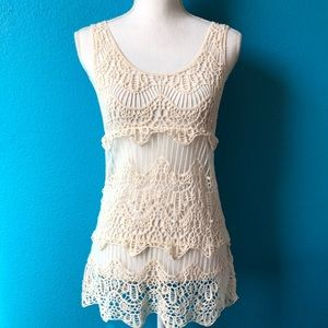 Forever 21 crochet tank top small